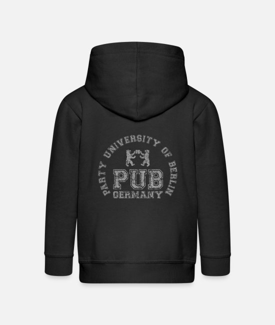 Kult Pullover & Hoodies - PUB - Party University Of Berlin - Kinder Premium Kapuzenjacke Schwarz