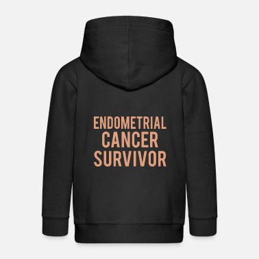 Endometrial Cancer Poison Endometrial Cancer: Endometrial Cancer Survivor - Kids' Premium Zip Hoodie