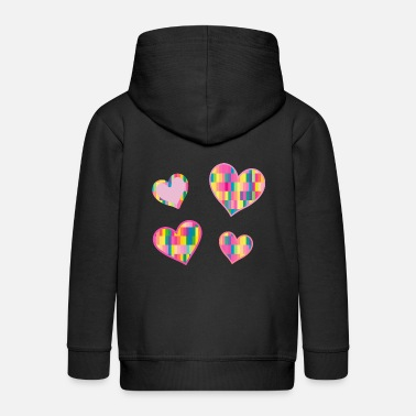 4 hearts - for Valentine's Day and love - Kids' Premium Zip Hoodie