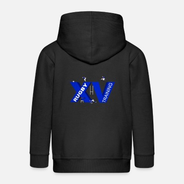 Lyon Rugby Toulousain XV TRAINING blue - Kids' Premium Zip Hoodie