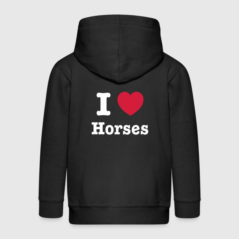 This design lets you change all colours - I love Horses - Premium-Luvjacka barn