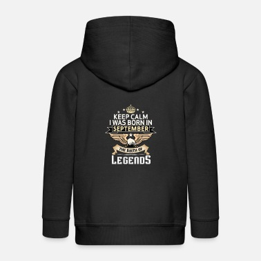 Born In September BORN IN SEPTEMBER - Kids' Premium Zip Hoodie