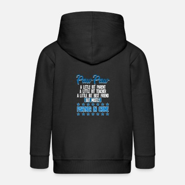 Paw Paw Paw Funny - Paw Paw Partner In Crime - Kids' Premium Zip Hoodie