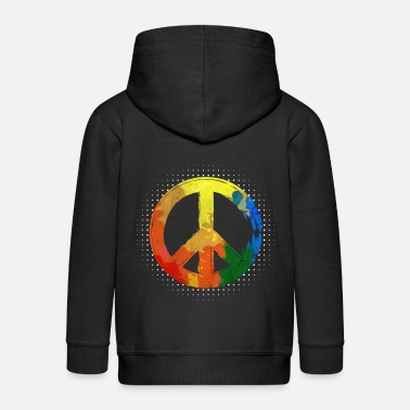 Hippie Hippie Hippie Movement Peace Movement Peace - Kids' Premium Zip Hoodie