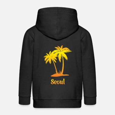 Seoul dream vacation with sun - Kids' Premium Zip Hoodie