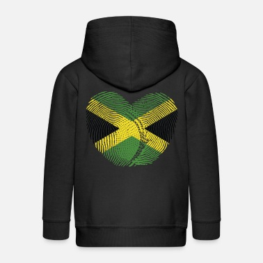 Jamaican Creole Jamaica Heart Group Tee Shirts - Kids' Premium Zip Hoodie
