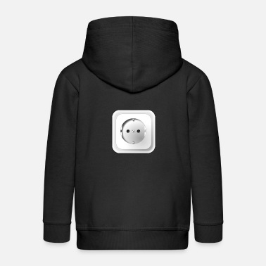 Outlet Electrical outlet - Kids' Premium Zip Hoodie