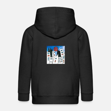 Sunset city - Kinder Premium Kapuzenjacke