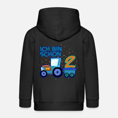 Tractor 2 Year Old Tractor I am already 2 years old - Kids' Premium Zip Hoodie