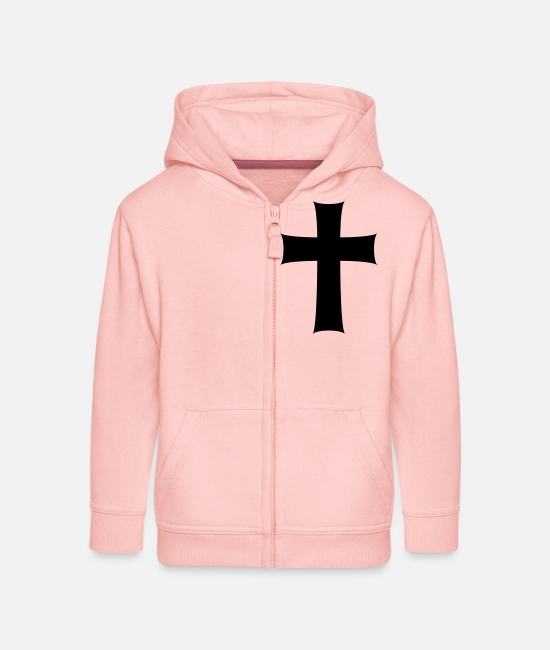 Son Of God Hoodies & Sweatshirts - Kreuz - Kids' Premium Zip Hoodie crystal pink