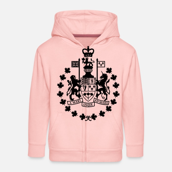 Canadian Armed Forces Hoodies & Sweatshirts - Canadian Forces Chief Warrant Officer CANADA Army - Kids' Premium Zip Hoodie crystal pink