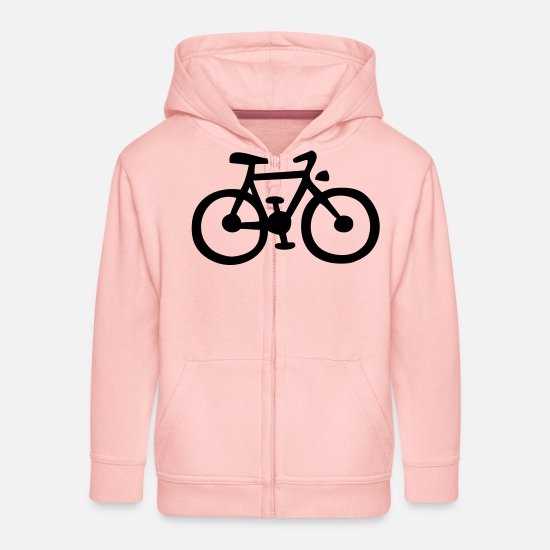 Bicycle Hoodies & Sweatshirts - fahrrad / bike - Kids' Premium Zip Hoodie crystal pink