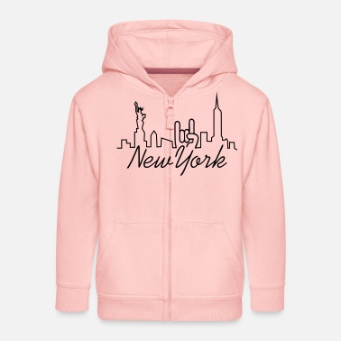 Frequnez new york manhattan - Kinder Premium Kapuzenjacke