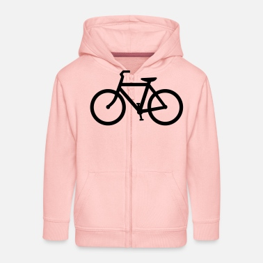 Bicycling Bicycle - Kids' Premium Zip Hoodie