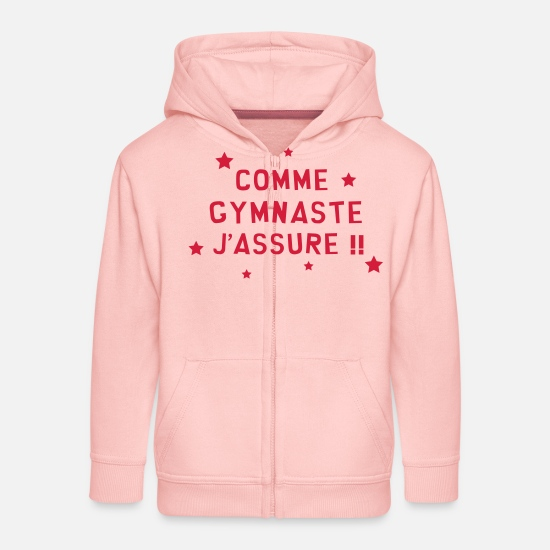 Sportif Sweat-shirts - Gymnastique / Gym / Gymnaste / Fitness / GRS - Veste à capuche premium Enfant rose cristal