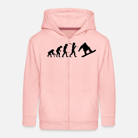 Surf Sweat-shirts - evolution snowboard surf neige - Veste à capuche premium Enfant rose cristal