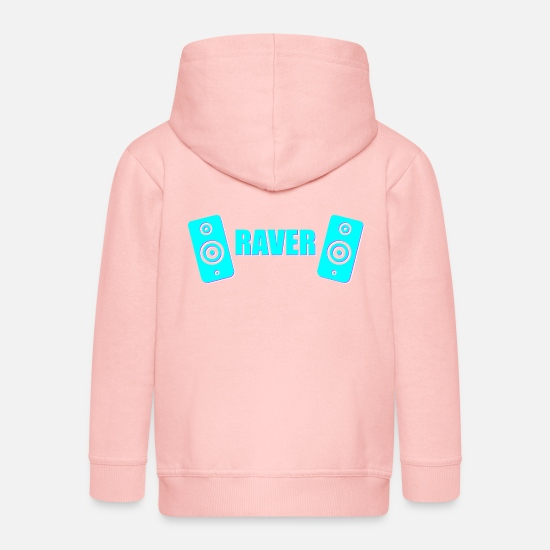Love Hoodies & Sweatshirts - raver - Kids' Premium Zip Hoodie crystal pink