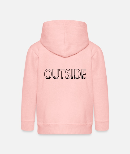 Outsider Hoodies & Sweatshirts - Outdoor Travel Adventure Nature - Kids' Premium Zip Hoodie crystal pink