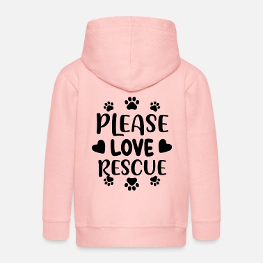 Animal Rescue Please love rescue 01 - Kids' Premium Zip Hoodie