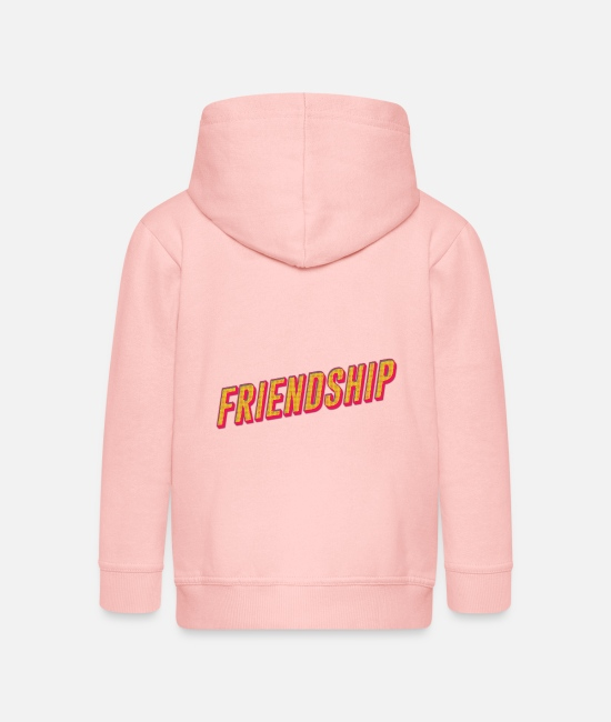 Friendship Hoodies & Sweatshirts - Friendship - Kids' Premium Zip Hoodie crystal pink