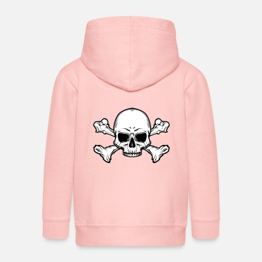 Skull And Bones Skull with bones - Kids' Premium Zip Hoodie