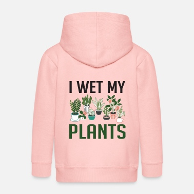 Meme I Wet My Plants Funny Plant Lover Girls T Shirt - Kids' Premium Zip Hoodie