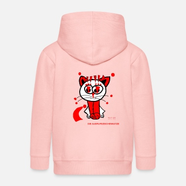 Punctuation Marks The exclamation mark cat loves punctuation marks - Kids' Premium Zip Hoodie