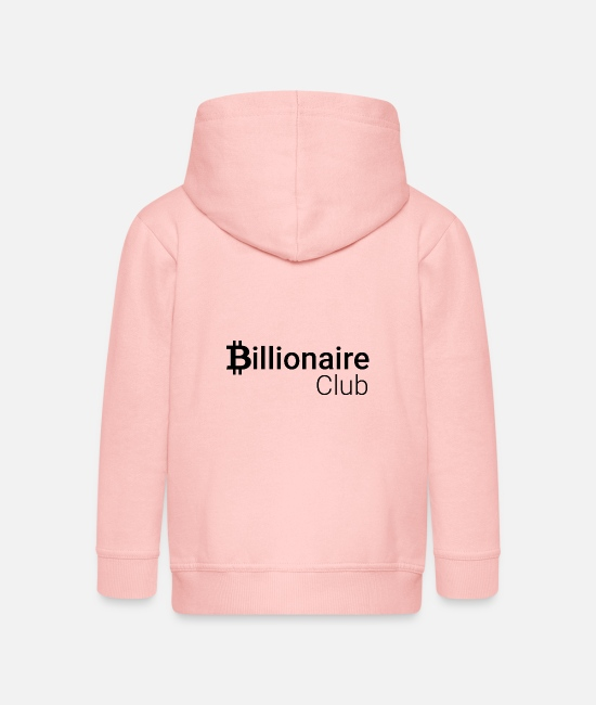 Btc Hoodies & Sweatshirts - Billionaire Club - Kids' Premium Zip Hoodie crystal pink