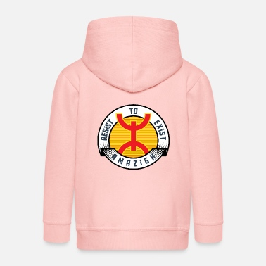Africa Amazigh, to resist in order to exist. - Kids' Premium Zip Hoodie