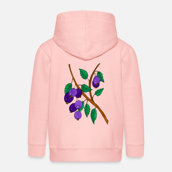 Trendy Hoodies & Sweatshirts - plums - Kids' Premium Zip Hoodie crystal pink