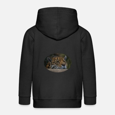 Msvrvisual Jaguar Peeking Over The Wall - Kids' Premium Zip Hoodie