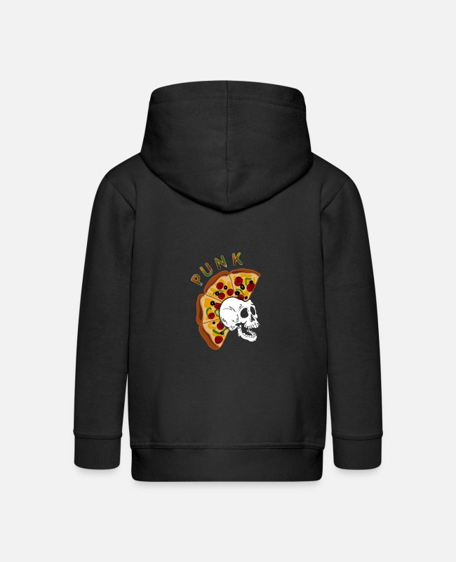 Bad Taste Hoodies & Sweatshirts - Punk pizza punk rock punk rocker gift idea rock - Kids' Premium Zip Hoodie black