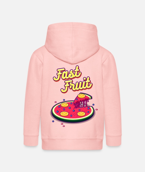 Yum Hoodies & Sweatshirts - Fast Fruit - Kids' Premium Zip Hoodie crystal pink