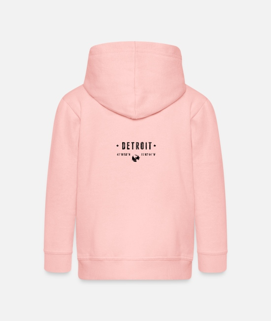 Destination Sweat-shirts - Détroit - Veste à capuche premium Enfant rose cristal