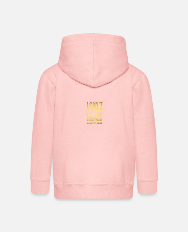 Calm Hoodies & Sweatshirts - I cant keep calm - Kids' Premium Zip Hoodie crystal pink