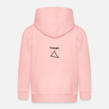 Triangle funny design gift present idea - Kids' Premium Zip Hoodie