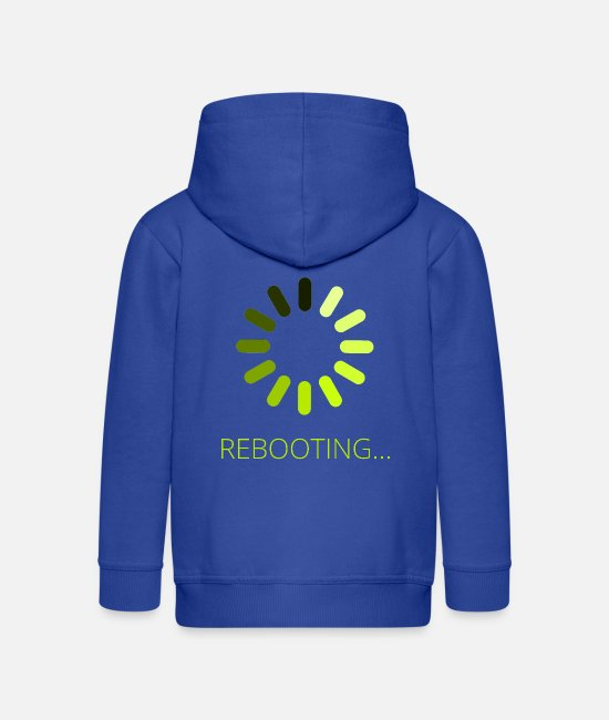 PC Hoodies & Sweatshirts - Rebooting - Kids' Premium Zip Hoodie royal blue
