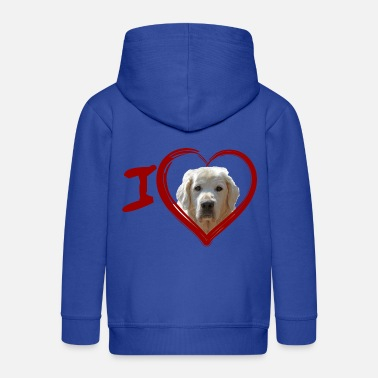 Golden Retriever (Painting - Painting) - Kids' Premium Zip Hoodie