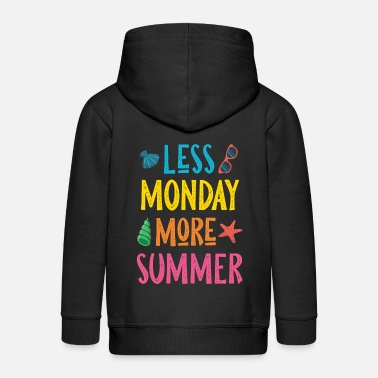 Summertime Summer Monday Summertime Tarvel - Gift Idea - Kids' Premium Zip Hoodie