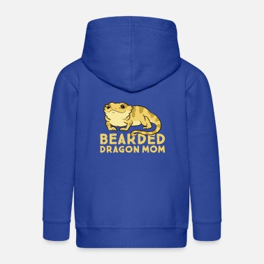 Gecko Bearded Dragon Mom Lizard Cute Bearded Dragon - Kids' Premium Zip Hoodie