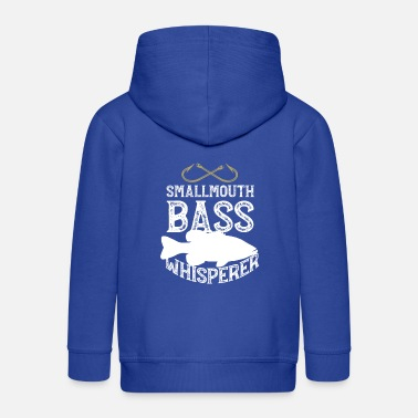 Fisherman Funny Smallmouth Bass Fishing Freshwater Fish Gift - Kids' Premium Zip Hoodie