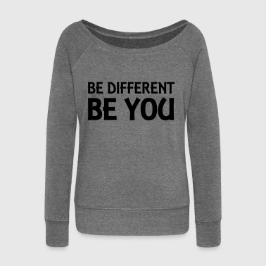Be different - be you - Pull Femme col bateau de Bella