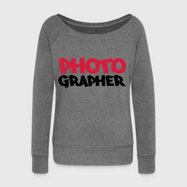 Photographer - Women's Boat Neck Long Sleeve Top