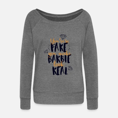 Fake fake - Women's Wide-Neck Sweatshirt