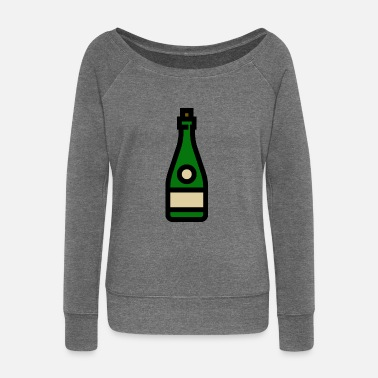 Champagne Glass Champagne glass, sparkling wine, champagne glass - Women's Boat Neck Long Sleeve Top