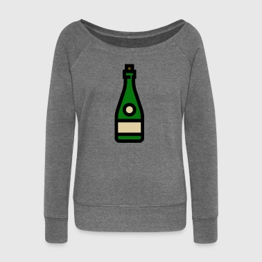 Champagne glass, sparkling wine, champagne glass - Women's Boat Neck Long Sleeve Top