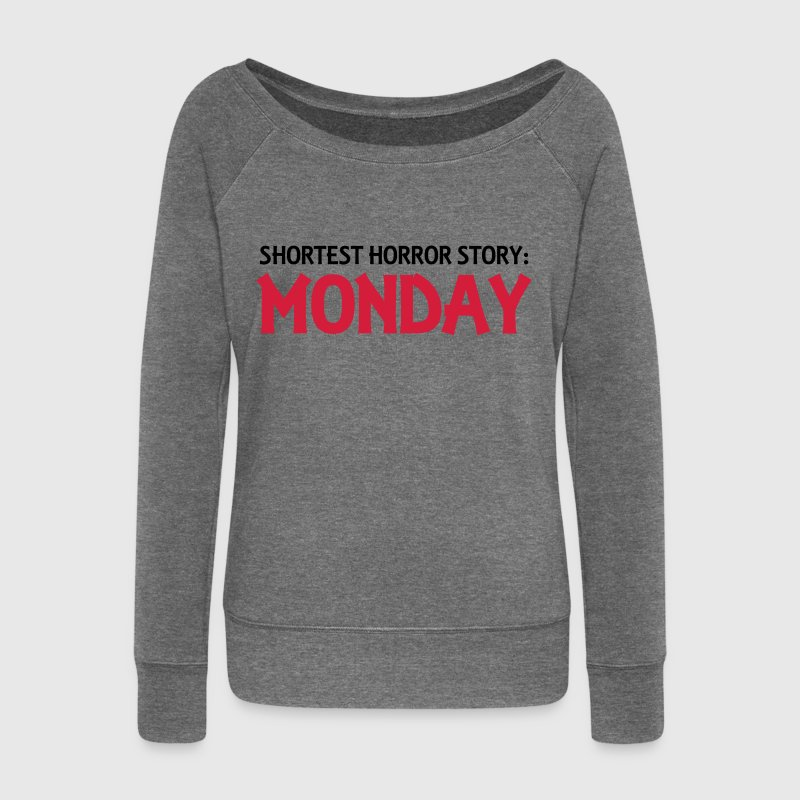 Shortest Horror Story: Monday - Women's Boat Neck Long Sleeve Top