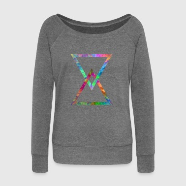 Triangles - Women's Boat Neck Long Sleeve Top