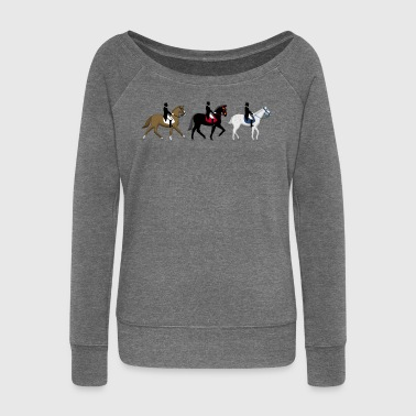 dressage - Women's Boat Neck Long Sleeve Top