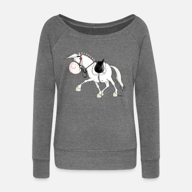 Dressage Horse Dressage - Horse - Horses - warmblood - Women's Boat Neck Long Sleeve Top